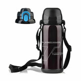 800ML Sports Stainless Steel Water Bottle With Strap Insulated Cup Thermal Vacuum Flask