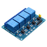 Geekcreit® 5V 4 Canali Relais Modulo per Arduino PIC ARM DSP AVR MSP430 Blu