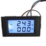 D69-2042 Цифровой AC Вольтметр Амперметр 300 В 100A Синий LCD Двухпанельный комбинированный вольтметр + CT 110V