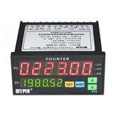 多機能デュアルLEDディスプレイデジタルカウンター90〜265 V AC / DC長さ計、2リレー出力およびパルスPNP NPN