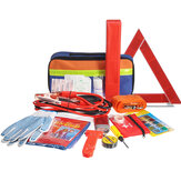 36PCS Emergency Kit Car Tool Bag Warning Triangle Flashlight Safety Hammer First Aid Kit Outdoor Travel Camping
