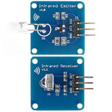 5Pair Mini 38KHz IR Infrared Transmitter Module + IR Infrared Receiver Sensor Module Geekcreit for Arduino - products that work with official Arduino boards