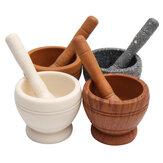 Resina de Pilão e Almofariz Set Alho Erva Spice Mistura Grinder Triturador de Cozinha Tigela Smashing Ferramentas