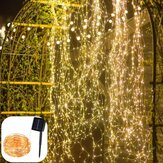 Solar Powered 8 Modes Waterpoof Warm White 200LED Tree Vine Copper Wire String Fairy Holiday Christmas Tree Decorations Lights