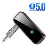 Πομπός δέκτη Bakeey 2-σε-1 Bluetooth 5.0 Handsfree Receiver 3,5mm AUX Jack LED Wireless Wireless Adapter For Car Headphone