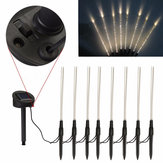 8 In 1 Lampa akrylowa LED Solar Power Light Outdoor Pathway Garden Lawn Lighting