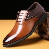 Microfiber Pointed Toe Formal Business Oxfords