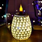 Lâmpada elétrica de aromaterapia de vidro 3D Triângulo Padrão Luzes brancas quentes Luz de aromaterapia doméstica