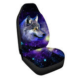 Cool Scar Wolf Pattern Universal Auto Car Front Seat Cover Cushion Mat Protector