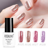 8 Colors Rose Gold Nail Gel Polish Glitter Soak-off UV Gel