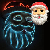 LED Lighting Father Christmas Mask EL Wire Mask Party Glow Mask Christmas Decoration for Holiday Lighting Supplies