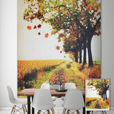 PAG Roller Shutters Autumn Print Painting Rolety na zasłonę tła Wall Window Curtain Decor