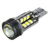T15 W16W 921 2835 SMD LED Coche Luces traseras de respaldo Bombilla de cuña 4W 480LM 6000K Blanco