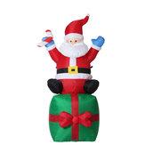 現在1.8MのクリスマスインフレータブルおもちゃサンタプレゼントにXmasの屋外ガーデンライト
