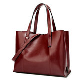 Women PU Leather Casual Handbag Large Capacity Tote Bag