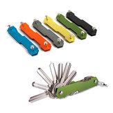 AOTDDOR® Aluminum Double Open Key Clip DIY Keychain Storage EDC Tool