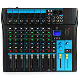 Bakeey YT-80 Mixing Console 8 Channel Professional bluetooth Audio Mixer Console Studio USB DJ Sound Mixing