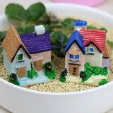 Mousse bricolage micro paysage décoration mini-blanc escalier décor végétal jardin de pot de fleurs