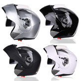 Motocicleta Full Face Flip Up Capacete Dual Lens Anti-fog