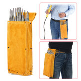 Cowhide Thicken Tool Waist Bag Welding Rod Electrode Hardware Screwdriver Case