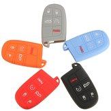 O berloque de cobertura de caso de chave do carro de silício descasca 5 botão remoto para o jipe sanção de movimento súbito de Chrysler