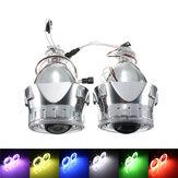2.5 Polegadas H1/H4/H7 Kit de Conversão de Faróis de Projetores HID Bi-Xenon com Lente CCFL Olhos de Anjo Olhos de Halo Luzes do Anel Mortalha LHD