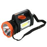 Lampe de camping puissante à 3 modes avec éclairage latéral COB projecteur portable extérieur fonction FM Bluetooth intégrée fournitures de survie en plein air