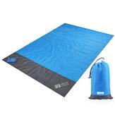 BF 4-6 Personen 200x140cm Stranddecke Wasserdichte sandfreie Strandmatte Outdoor Camping Picknickmatte für Reisen Wandern