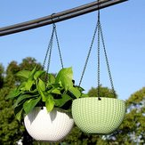 Fashion Plant Hanging Basket Flower Pot Stainless Steel Chain Planter Garden Home Decorations