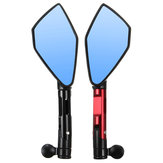 Pair 8mm/10mm Motorcycle Rearview Mirrors Triangle CNC Aluminum