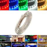 1M 3,5 W à prova d'água IP67 SMD 3528 60 LED Tira Corda Luz de festa de Natal ao ar livre AC 220V