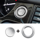 Bouton de démarrage de voiture Carbone Interrupteur Couverture de moteur moulage intérieur pour Land Rover Discovery Sport 2015-2018