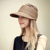 Women Outdoor Breathable Foldable Straw Hat