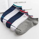 1 par de meias de algodão masculino antiderrapante meias curtas até o tornozelo meias de barco para caminhadas ao ar livre viagem