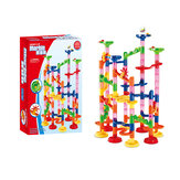 105/109Pcs DIY Construction Race Run Orbit Maze Balls Track Building Trendy Educational Toys Kids Toys