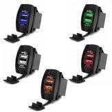 3.1A 12-24V 2 USB Car Cigarette Lighter Socket Splitter US Plug Charger For iphoneX 8/8Plus  Samsung