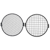 7inch Motorcycle Headlight Mesh Grill Máscara Protector Guard Square / Rhombus Cover