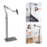 Bed Desktop Tablet Floor Stand Lazy Long Arm Adjustable Phone Holder Tablet Stand 360 Degree Rotation For 4.6-10.6 Inch Smart Phone Tablet Home Office Youtube Video Tiktok Live Stream Online Learning Course