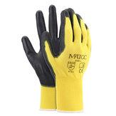 12 paires de gants de travail de sécurité enduits de nitrile PU, construction de jardin, poignée antidérapante, taille M / L / XL