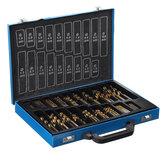 Conjunto de brocas de broca de engenharia 170 unidades HSS Presion 1mm-10mm Estojo de metal sortido