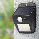 Solar Powered 12 LED PIR Lampada da parete con sensore di movimento Ourdoor Waterproof Garden Courtyard lampada 3 modalità di illuminazione