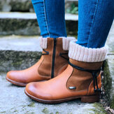 Large Size Women Retro Warm Daily Winter Sock Splicing Boots