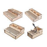 Diy auto-montar ferramenta modelo rc Caso armazenamento de chave de fenda Caixa pinça alicate pacote
