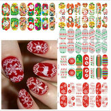 Christmas Nail Art Decoration Transfer Manicure Tips Decal Stickers