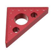 Regla de altura de aleación de aluminio de 90 grados métrica Inch Regla triangular para trabajar la madera Regla de medición