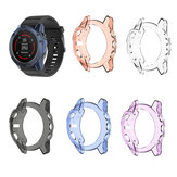 Bakeey Translucent Non-Yellow Soft TPU Shockproof Watch Case Cover for Garmin Fenix 5X