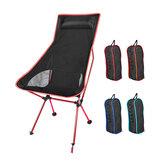 Chaise de lune pliable Portable pêche Camping tabouret de barbecue pliant siège de randonnée prolongé jardin ultra-léger Portable intérieur chaise extérieure