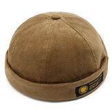 Gorra de marinero con calavera retro para hombre, ajustable, sin ala francesa, sólida, francesa