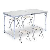 120x60cm przenośny składany stół ze stopu aluminium krzesło z regulacją wysokości kryty odkryty grill Camping stół piknikowy
