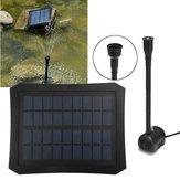 7V Solar Power Fountain Pool Water Pump Kit Timer/LED Light Garden Pond Submersible Pumps